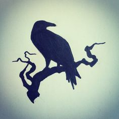 Raven silhouette tattoo sketch / ideas by - Ranz