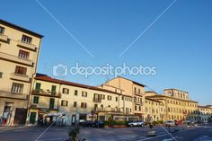 Mercatale square, Prato, Tuscany, Italy — Stock Photo
