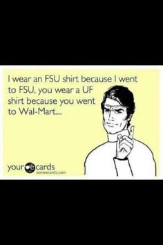 You know what I mean?! Lol. No hard feelings Gator friends. ;) #seminole #FSU #Tallahassee