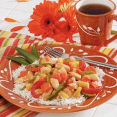 Chicken Pineapple Stir-Fry Recipe -The brown sugar called for in this recipe gives the chicken a superior taste. —Mel Miller, Perkins, Oklahoma