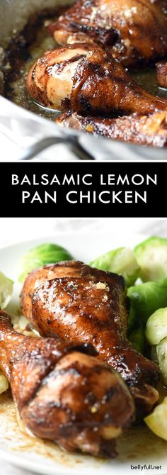 Balsamic Lemon Chicken - an easy and ultra flavorful chicken dish, with sweet, tart, crispy lemon sugar skin, and buttery pan juices engulfing every nook and cranny!