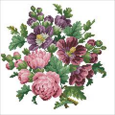 Zz Cross Stitching, Cross Stitch Embroidery, Embroidery Patterns, Hand Embroidery, Cross Stitch Rose, Cross Stitch Flowers, Cross Stitch Designs, Cross Stitch Patterns, Vintage Crafts