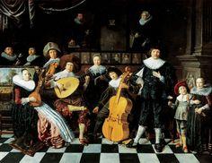 "Jan Miense Molenaer (1610–1668), aka Judith Leyster's husband, ""Family portrait of Jan Miense Molenaer"" (c. 1635),"