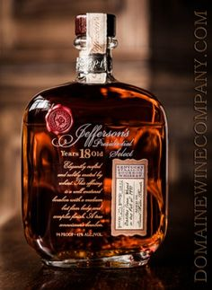 Jeffersons Whiskey - Jeffersons Presidential Select 18 year old at Domaine Wine Company Dallas Texas