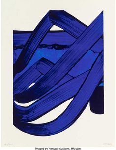 "Pierre Soulages: ""Sérigraphie no. Signed Soulages, Silkscreen in colours. Sheet size 89 x cm. – Bruun Rasmussen Auctioneers of Fine Art Tachisme, Portfolio D'art, Abstract Expressionism, Abstract Art, Abstract Paintings, Art Actuel, Spirited Art, Art Abstrait, Monochrom"