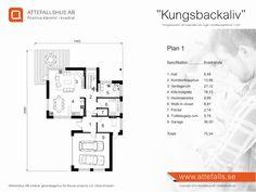 """Villa """"Kungsbackaliv"""" planritning 1  Besök www.attefalls.se"""