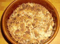 Apfel-Rhabarber-Crumble mit Kastanienstreusel