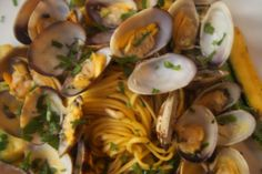Tagliolini with Clams and Pinenuts