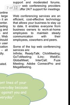 Considering web conferencing tools? Here's a list to check out.