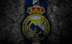 تحميل خلفيات ريال مدريد, شعار, الفن, الدوري الاسباني, كرة القدم, نادي كرة القدم, الليغا, الجرونج, ريال مدريد FC