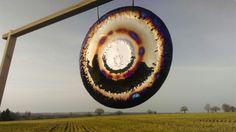 Lotus flame art gong 62cm