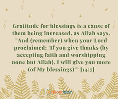 Do you want your blessings to be increased? Show gratitude!