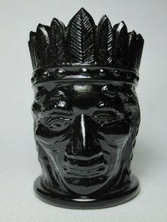 Black Amethyst, Indian Head, Glass Art, Pottery, Crystals, Antiques, Ebay, Vintage, Ceramica