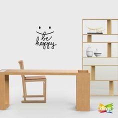 BE HAPPY Vinilos Decorativo  WALL STICKER DECOR