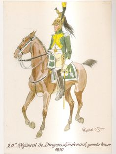 French; 20th Dragoons, Lieutenant Colonel, Grande Tenue, 1810 by H.Knotel