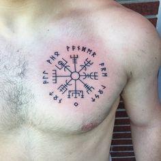 Vegvisir by Tory Destromp at Tattooed Heart out in Glen Burnie, MD