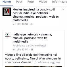 Grazie a movies inspired per aver portato a #venezia73 l'ultimo film di Wim Wenders e grazie per aver condiviso la nostra recensione #Wenders #moviesinspired