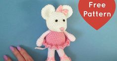 This little ballerina mouse will dance her way into your heart! This is the first amigurumi pattern I ever designed and I am e...