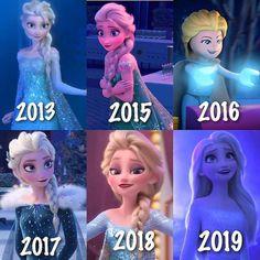 Growing Old Elsa Different Elsa & Anna Frozen Disney Disney Princess Memes, All Disney Princesses, Disney Princess Pictures, Disney Memes, Princess Rapunzel, Disney Songs, Disney Quotes, Disney Shirts, Cute Disney Drawings