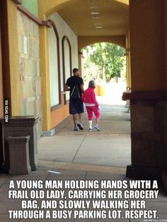 Gotta respect this young man