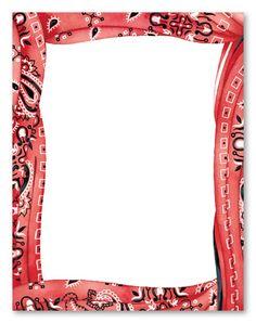 bandana frame | Western theme party, Cowboy invitations ...