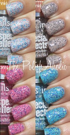 Nails Inc Sprinkles Collection Swatches courtesy of PolishAholic