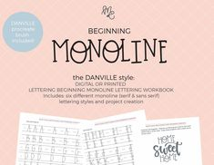 The Lettering Academy – mirabellecreations Hand Lettering Quotes, Lettering Styles, Brush Lettering, Calligraphy Pens, Gel Pens, Lower Case Letters, Fun Learning, Worksheets, Alphabet