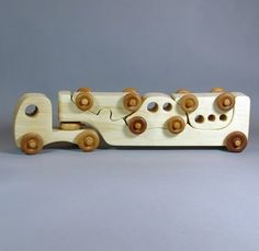 This is less a toy concept but rather a furniture idea for me. - This is less a toy concept but rather a furniture idea for me. Wooden Toy Trucks, Wooden Car, Wooden Projects, Wooden Crafts, Woodworking Toys, Woodworking Projects, Homemade Toys, Homemade Gifts, Kids Wood