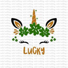 St Patricks Day Jokes, St Patricks Day Crafts For Kids, Cricut Htv, Cricut Craft, Cricut Ideas, Silhouette Projects, Silhouette Cameo, Horse Face Paint, Unicorn Face