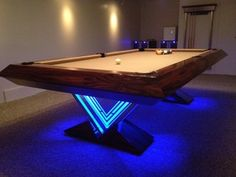 VUE Pool Table by MITCHELL * Exclusive Billiard Designs - eclectic - family room - richmond - Mitchell * Exclusive Billiard Designs * Used Pool Tables, Diy Pool Table, Pool Table Games, Custom Pool Tables, Pool Table Room, Game Tables, Billiard Pool Table, Billiard Room, Man Cave Room