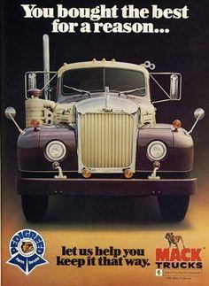 Mack Truck ad text - Cars World Old Mack Trucks, Big Rig Trucks, Semi Trucks, Cool Trucks, Pickup Trucks, Mack Attack, Custom Big Rigs, Trucks And Girls, Heavy Truck