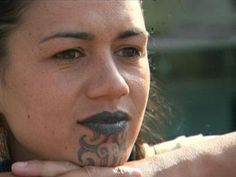 chin tattoo a sign of marriage for the Maori