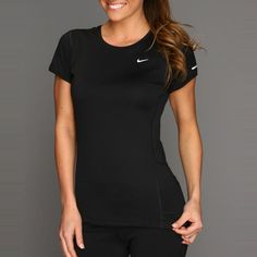 Rank & Style Top Ten Lists | Nike Miler S/S Crew Top #rankandstyle #fitness #activewear #gym #workouts #black