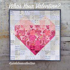 Valentine's Heart mini quilt.
