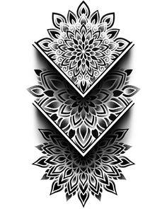 Geometric Tattoo Pattern, Geometric Tattoos Men, Geometric Mandala Tattoo, Mandala Tattoo Design, Dot Tattoos, Forearm Tattoos, Black Tattoos, Body Art Tattoos, Sleeve Tattoos