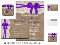 The Rustic Purple Bow Collection