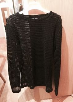 Kupuj mé předměty na #vinted http://www.vinted.cz/zeny/s-dlouhymi-rukavy/8780937-cerny-pruhledny-svetrik