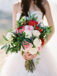 Stunning pink and red bouquet