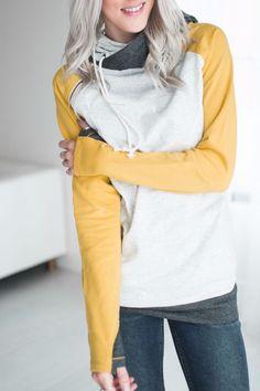 Baseball DoubleHood™ Sweatshirt - Mustard [sign-up]