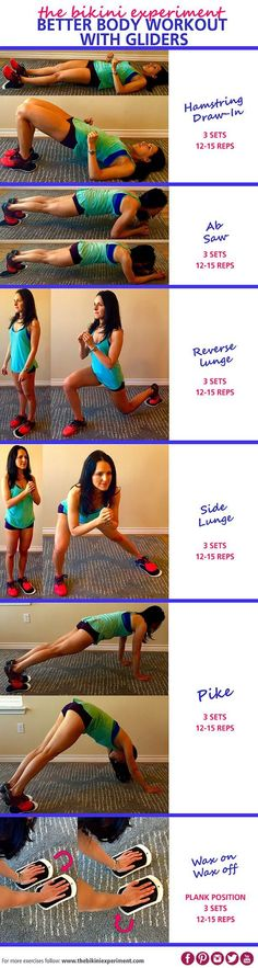 Grab your gliders - get ready! The better body workout with gliders is a perfect way to progress and get stronger. A full body routine for anywhere!