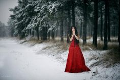 Lady in red 2 by carpeemorteem on DeviantArt
