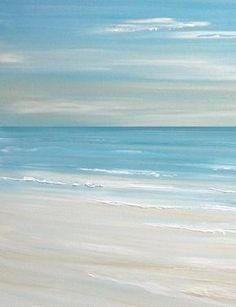 Beach art, beach decor beach artwork, artwork above b. Watercolor Landscape, Watercolor Paintings, Salt Painting, Art Abstrait, Seascape Paintings, Ocean Art, Ocean Beach, Pictures To Paint, Framed Wall