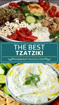 Homemade tzatziki sauce is a blend of yogurt cucumber and seasonings which makes for the perfect appetizer. Tzatziki Sauce Recipe Greek Yogurt, Homemade Tzatziki Sauce, Healthy Dinner Recipes, Appetizer Recipes, Vegetarian Recipes, Cooking Recipes, Turkey Recipes, Greek Recipes, Indian Food Recipes