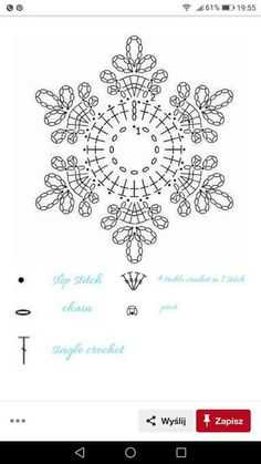 No 7 large snowflake lace crochet motifs 눈송이 모티브도안 네이버 블로그 salvabrani Crochet Snowflake Pattern, Crochet Stars, Crochet Motifs, Crochet Snowflakes, Thread Crochet, Crochet Flowers, Crochet Stitches, Crochet Patterns, Crochet Ideas