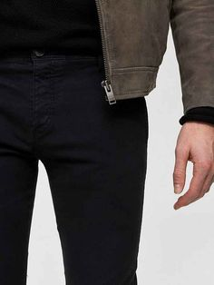 SELECTED HOMME Skinny-Fit-Chinos mit schrägen Taschen online kaufen | OTTO Skinny Fit Jeans, Skinny Chinos, Bermuda Shorts, Black Jeans, Fitness, Pants, Fashion, Trousers, Skinny Jeans