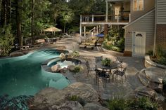 Perfect! surrounded by trees...pool!!