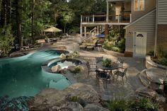 Entertainment pool area