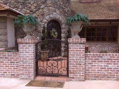 Signature Iron Doors – Iron Gates and Custom Rails, Entry Gates, RV Gates… Side Gates, Front Gates, Front Yard Fence, Entry Gates, Fenced In Yard, Courtyard Landscaping, Courtyard Ideas, Fences, Yard Fencing