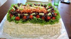 Kinkku-meetvurstivoileipäkakku Bistros, Cobb Salad, Acai Bowl, Graduation, Breakfast, Party, Recipes, Beautiful, Food