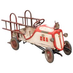 1930's Toy Fire Engine Pedal Car
